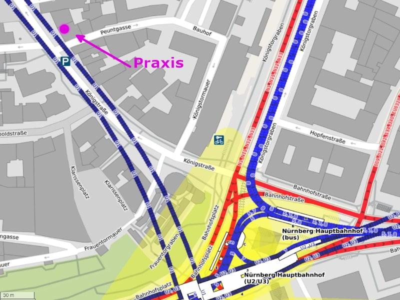 ÖNV Karte (Quelle OpenStreetMap-Mitwirkende)